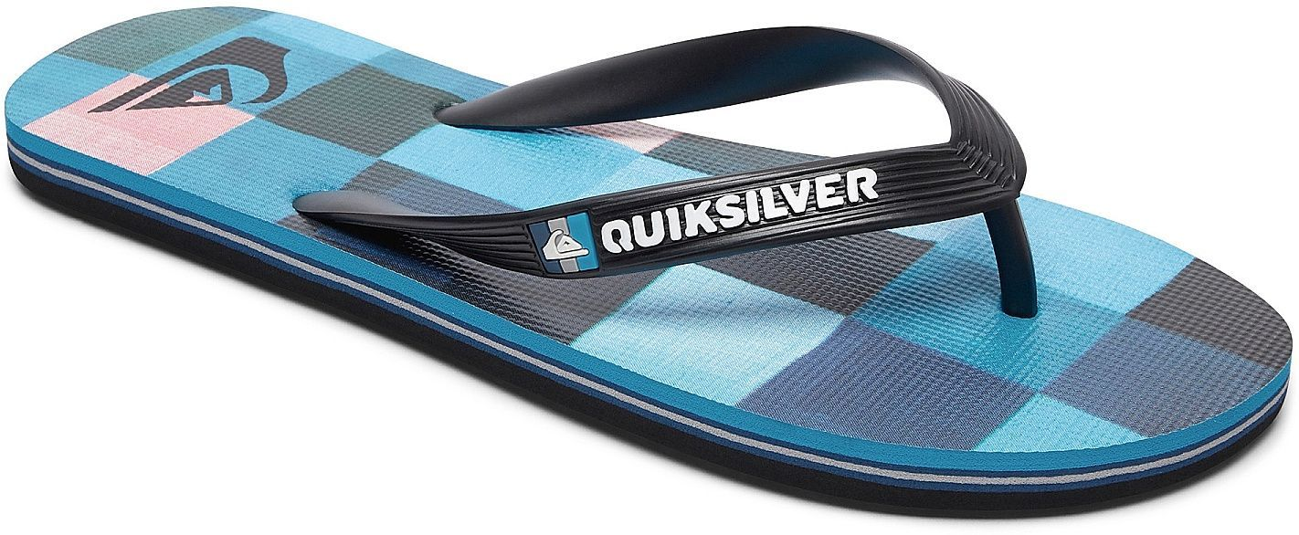 japonki dziecięce QUIKSILVER MOLOKAI RESIN CHECK Y Black/Blue/Red - XKBR