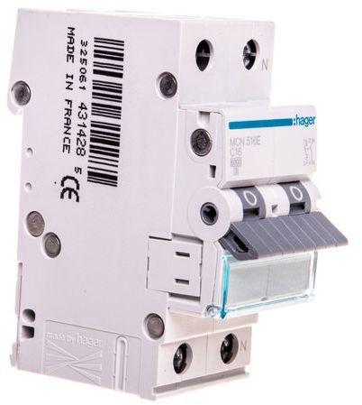 Wyłącznik nadprądowy 1+N C 16A 6kA AC MCN516E