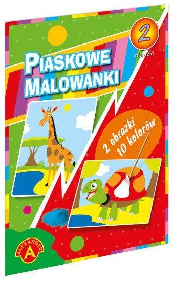 Piaskowa Malowanka Żyrafa Żółw ZAKŁADKA DO KSIĄŻEK GRATIS DO KAŻDEGO ZAMÓWIENIA