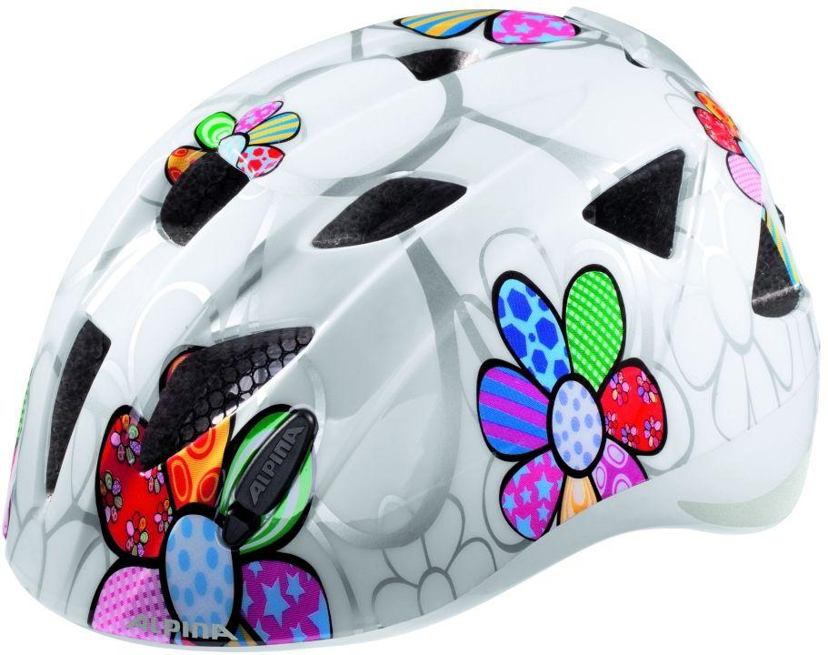 ALPINA Kask rowerowy dziecięcy XIMO FLASH WHITE FLOWER Rozmiar: 47-51,ximoflashwhiteflower