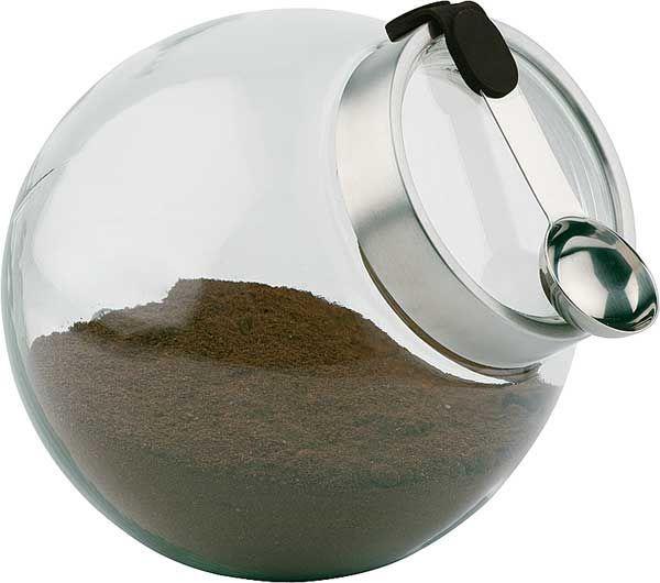 Pojemnik szklany z łyżeczką przeźroczysty 3L śr. 200x(H)180mm