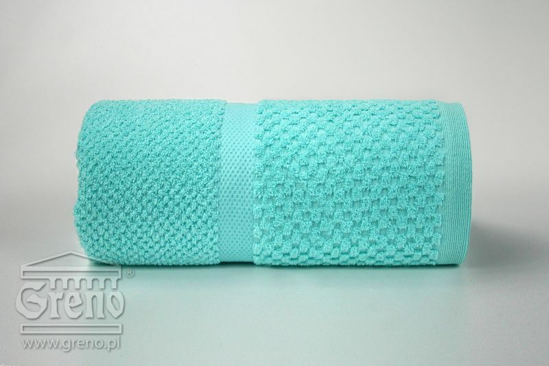 Ręcznik Summer Mess 70x140 miętowy 450 g/m2 frotte Greno
