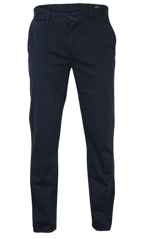 Granatowe Męskie Spodnie Casualowe -RANIR- Bawełniane, Chinosy SPRANIRM101darkblue