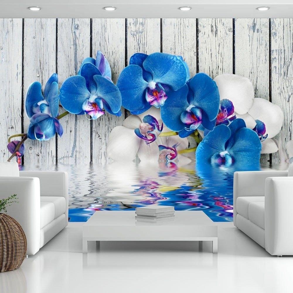 Fototapeta - kobaltowa orchidea
