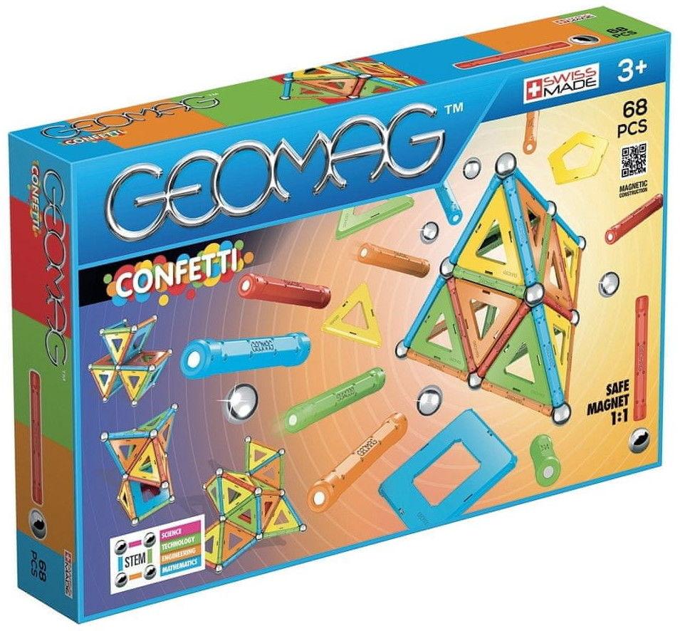 GeoMag - Klocki magnetyczne Confetti 68 el. 355