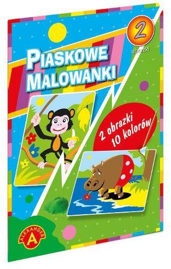 Piaskowa malowanka hipopotam małpa ZAKŁADKA DO KSIĄŻEK GRATIS DO KAŻDEGO ZAMÓWIENIA