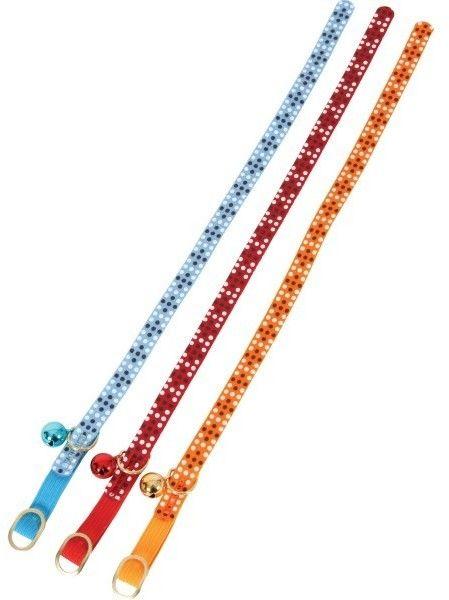 "Obroża dla kota ""Colorful"" 10mm/30cm : kolor - niebieski DOSTAWA 24h GRATIS od 99zł"