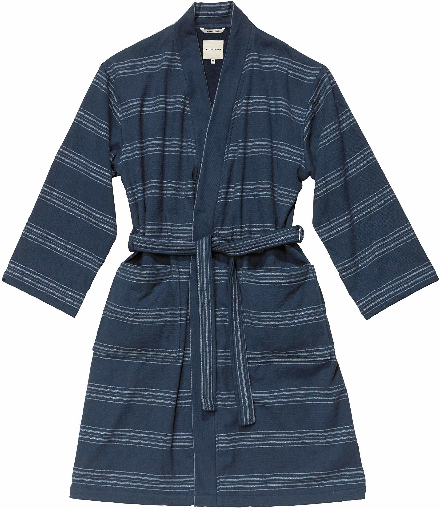 TOM TAILOR 0100509 szlafrok Wellness Kimono, granatowy, M