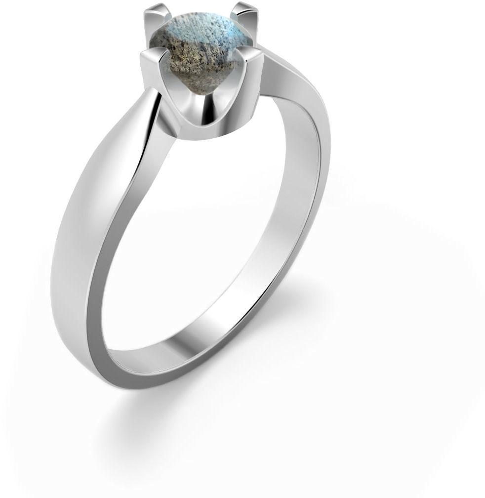 Kuźnia Srebra - Pierścionek srebrny, Labradoryt, 2g, model