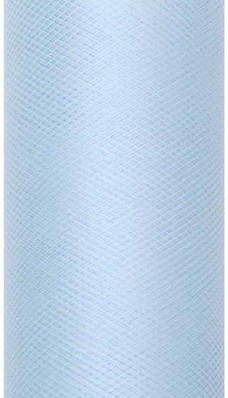 Tiul dekoracyjny błękitny 30cm rolka 9m TIU30-011 - BŁĘKITNY 30CM