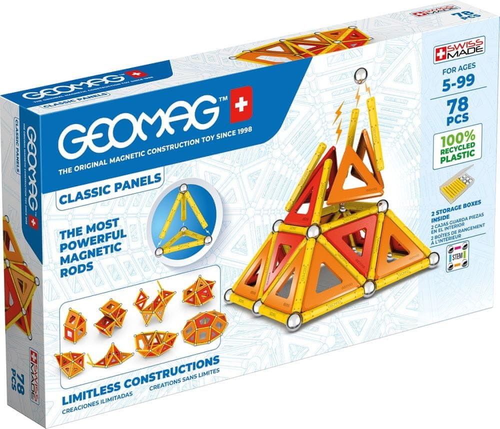GeoMag - Klocki magnetyczne Eco Panels 78 el. 472