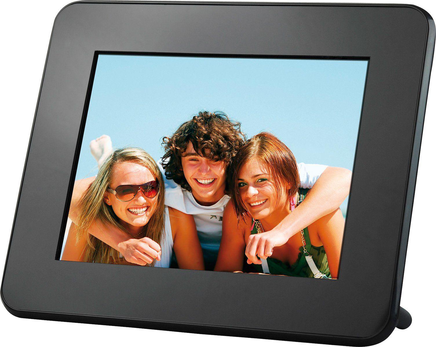 Rollei Pictureline 5080 Multimedia cyfrowa ramka na zdjęcia (wyświetlacz 20,3 cm (8 cali), współczynnik proporcji obrazu, funkcja video/MP3), czarna
