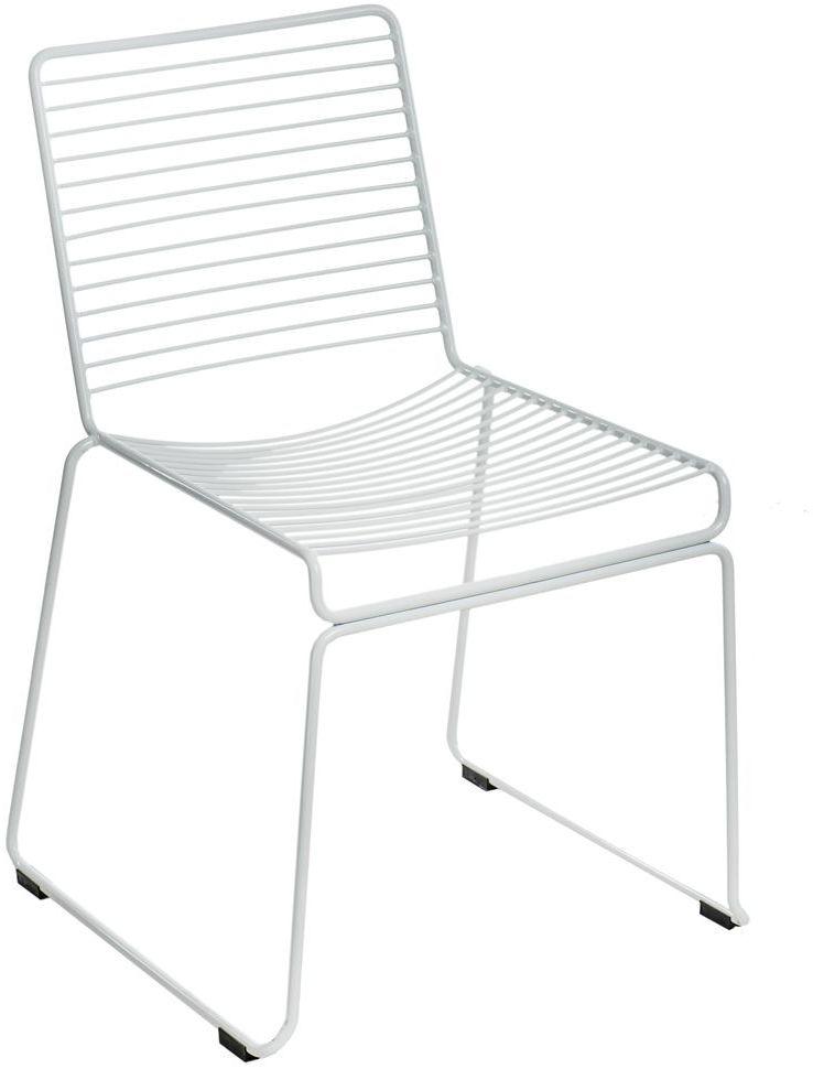 Designerskie ażurowe krzesło Seli - białe