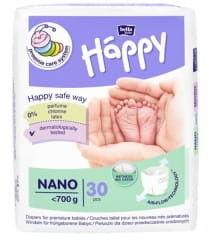 Bella Baby Happy Pieluszki Nano dla wcześniaków ( do 700g) 30szt