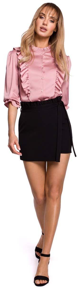 Czarna krótkie spódnico -spodnie z falbanką