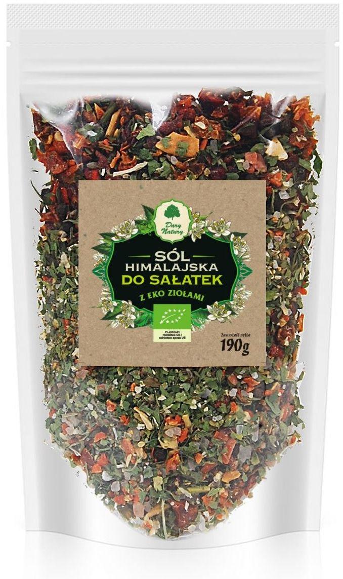 Sól himalajska z ziołami do sałatek bio 190 g - dary natury