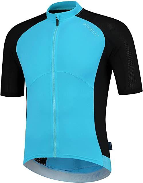 Rogelli koszulka rowerowa męska Ray, czarna/niebieska, S