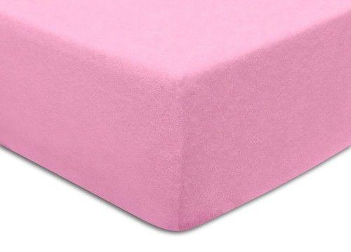 Prześcieradło Frotte Z Gumką 60x120 Różowe Darymex