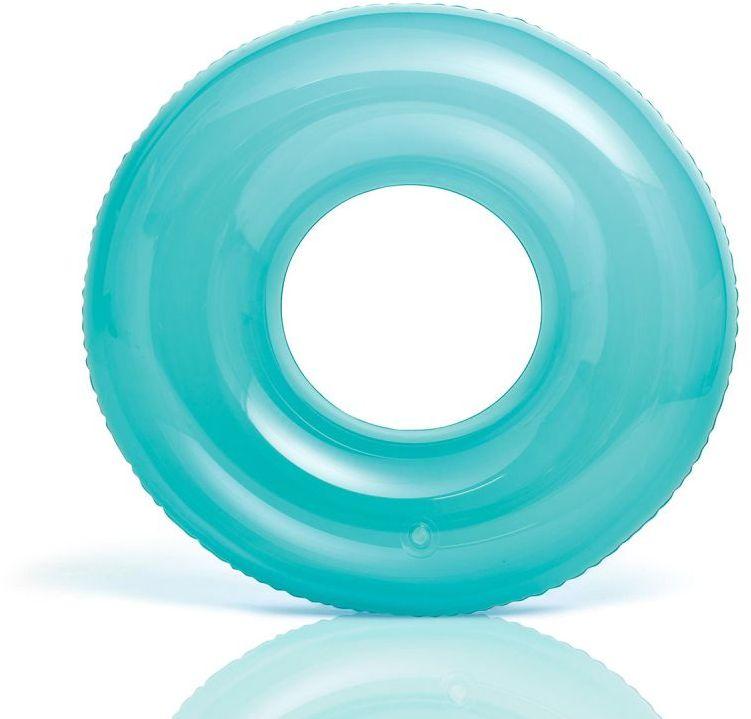 Koło do pływania TRANSPARENT niebieskie Intex 59260