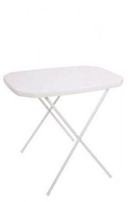 Stół kempingowy składany 53 x 70 cm biały