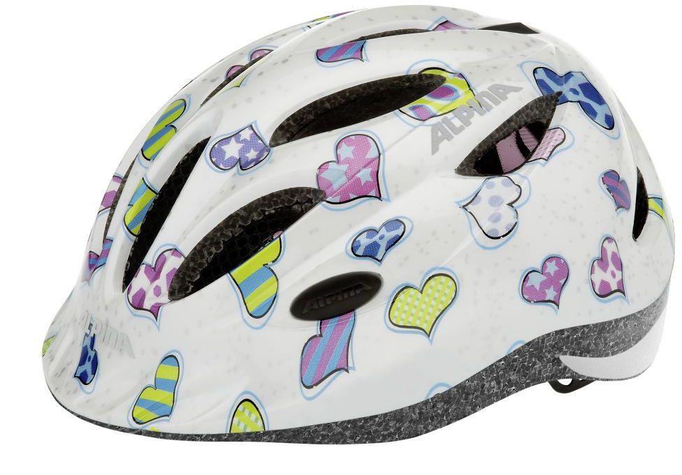 ALPINA Kask rowerowy dziecięcy GAMMA 2.0 HEARTS Rozmiar: 51-56,gamma2hearts