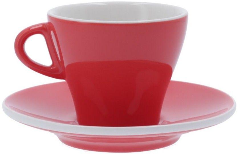 Filiżanka do cappuccino Club House Gardenia 185 ml - Łososiowa czerwień