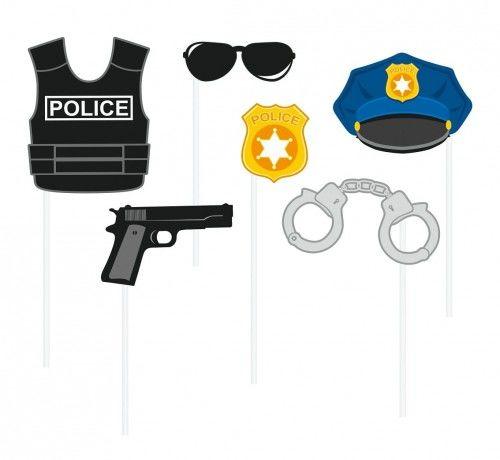 Zestaw do fotobudki Policjanci i Policjantki