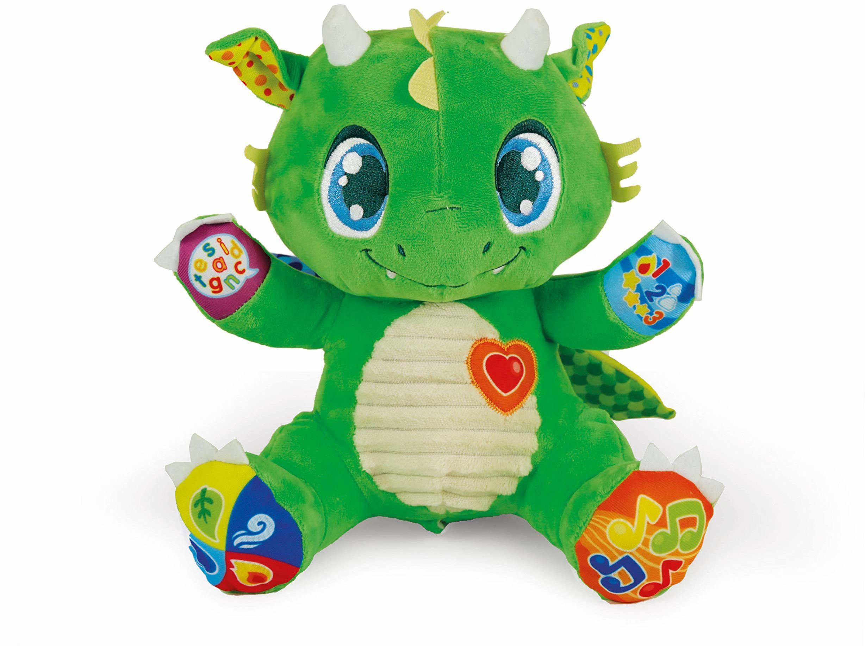 Clementoni 17392 Dragon Interactive Plush pluszowe zwierzątko z dźwiękiem i światłem, 6 miesięcy +