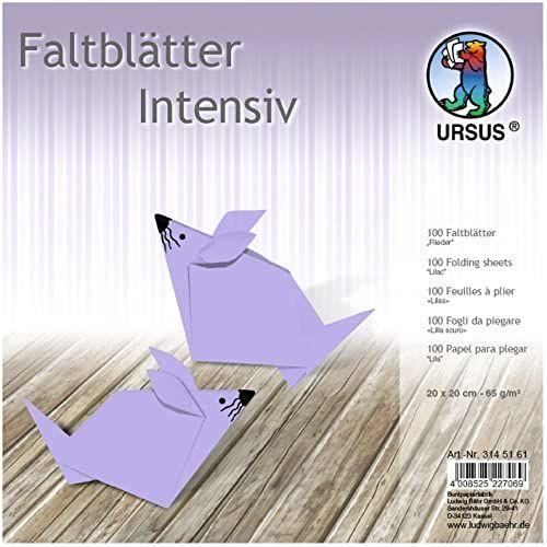 Ursus 3145161 składane arkusze Uni, 65 g/m , ok. 20 x 20 cm, 100 arkuszy, bez