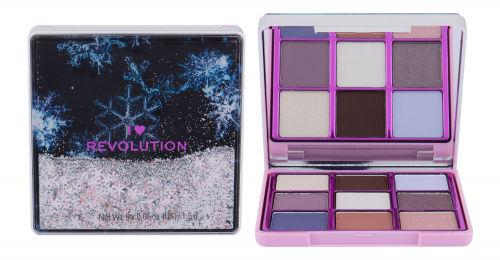 Makeup Revolution London I Heart Revolution Snow Globe cienie do powiek 13,5 g dla kobiet Snowflake