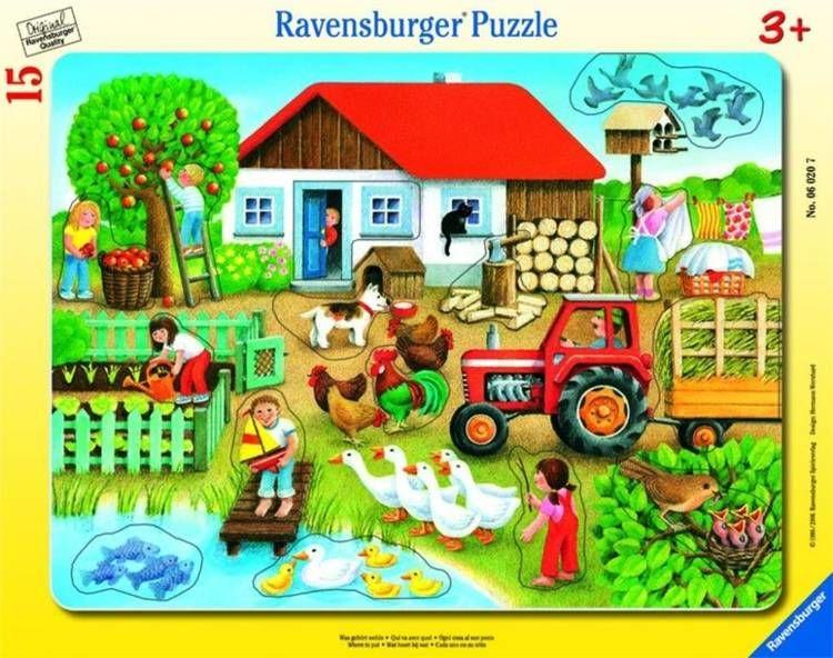 Puzzle 15 Co tu pasuje? Na wsi - Ravensburger