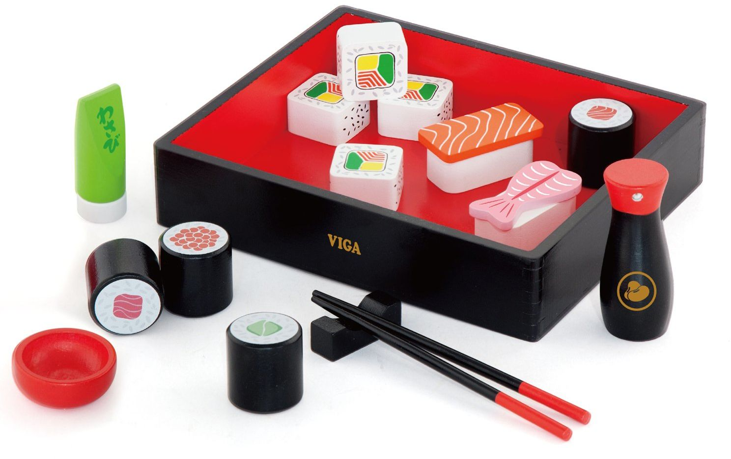 Viga Zabawki - 50689 - Drewniany zestaw sushi