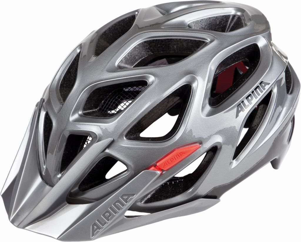 ALPINA Kask rowerowy MYTHOS 3.0 DARKSILVER-BLACK-RED Rozmiar: 52-57,mythos3dsilverbckred