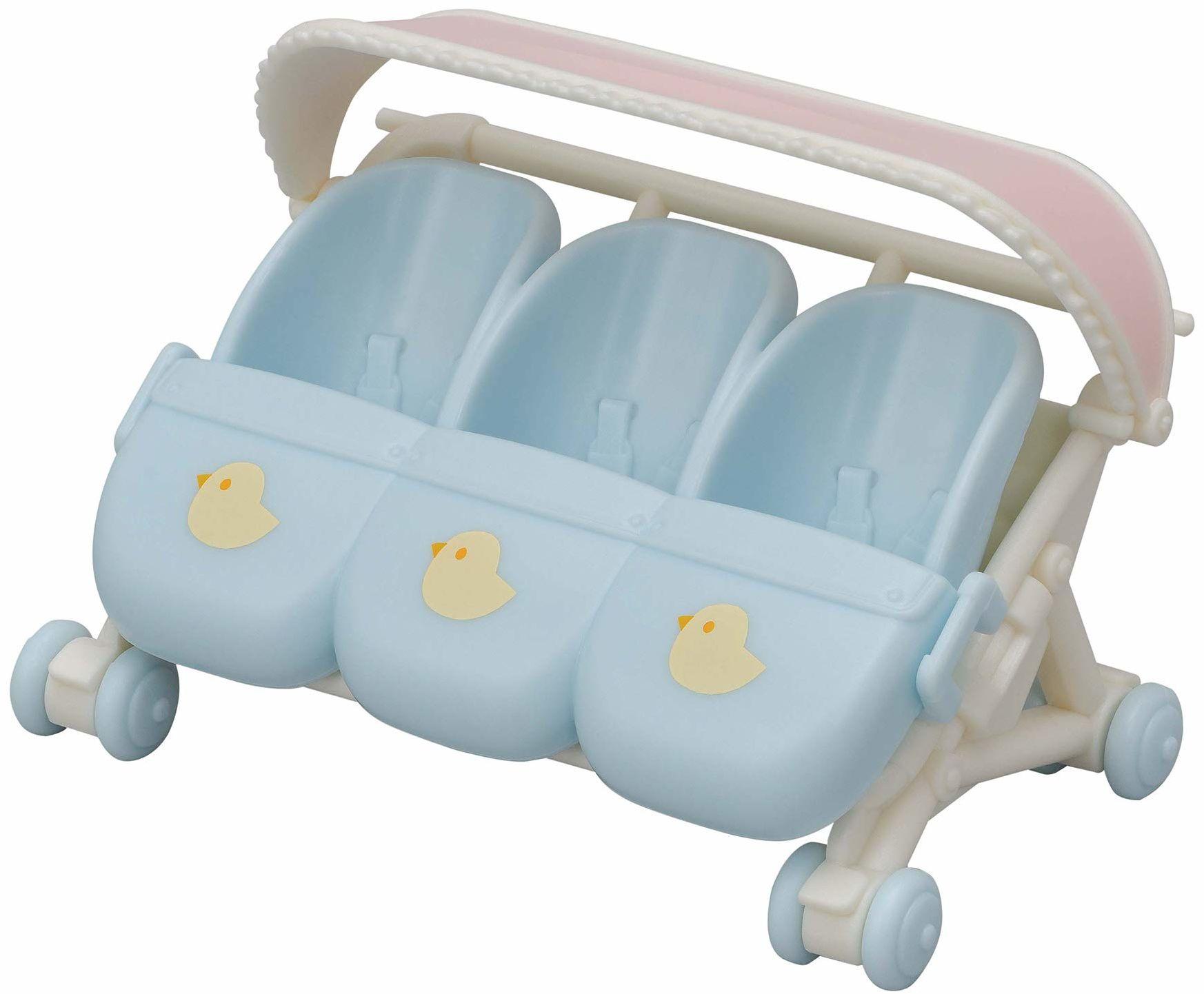 Sylvanian Families 5533 wózek potrójny - Zestawy do zabawy dla lalek