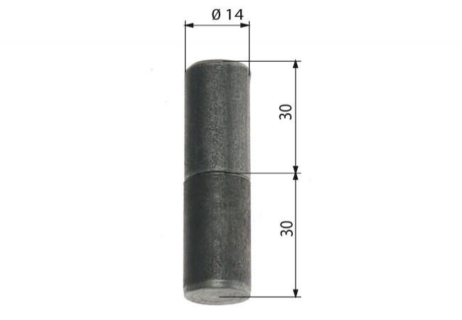 Zawiasa budowlana toczona 14/60 mm