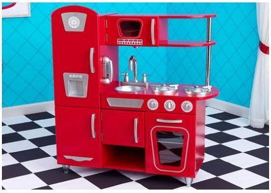 Duża Drewniana Kuchnia Dla Dzieci Kidkraft Vintage Czerwona