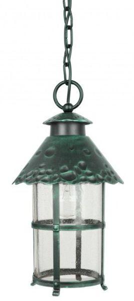 Ozdobna lampa wisząca zewnętrzna TOLEDO K 1018/1/R zielony