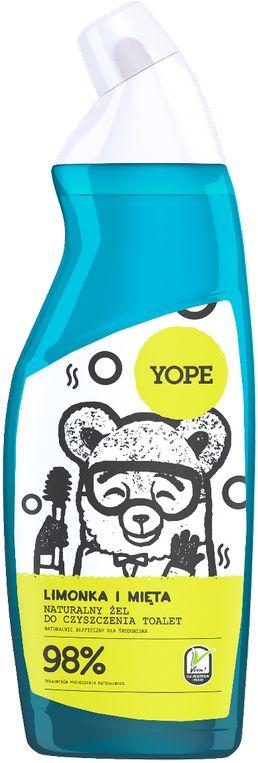 YOPE EKO Żel do czyszczenia toalet Limonka i Mięta