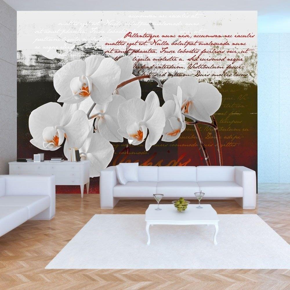 Fototapeta - pamiętnik i orchidea
