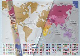 Mapa zdrapka Flagi ZAKŁADKA DO KSIĄŻEK GRATIS DO KAŻDEGO ZAMÓWIENIA