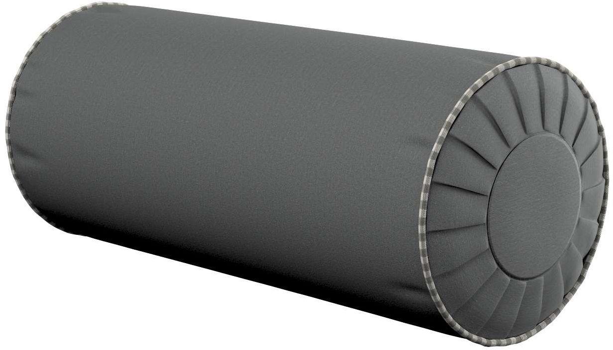 Poduszka wałek z zakładkami, szary, Ø20  50 cm, Quadro