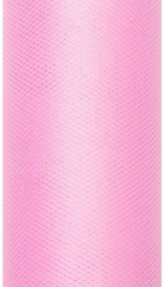 Tiul dekoracyjny różowy 30cm x 9m 1 rolka TIU30-081