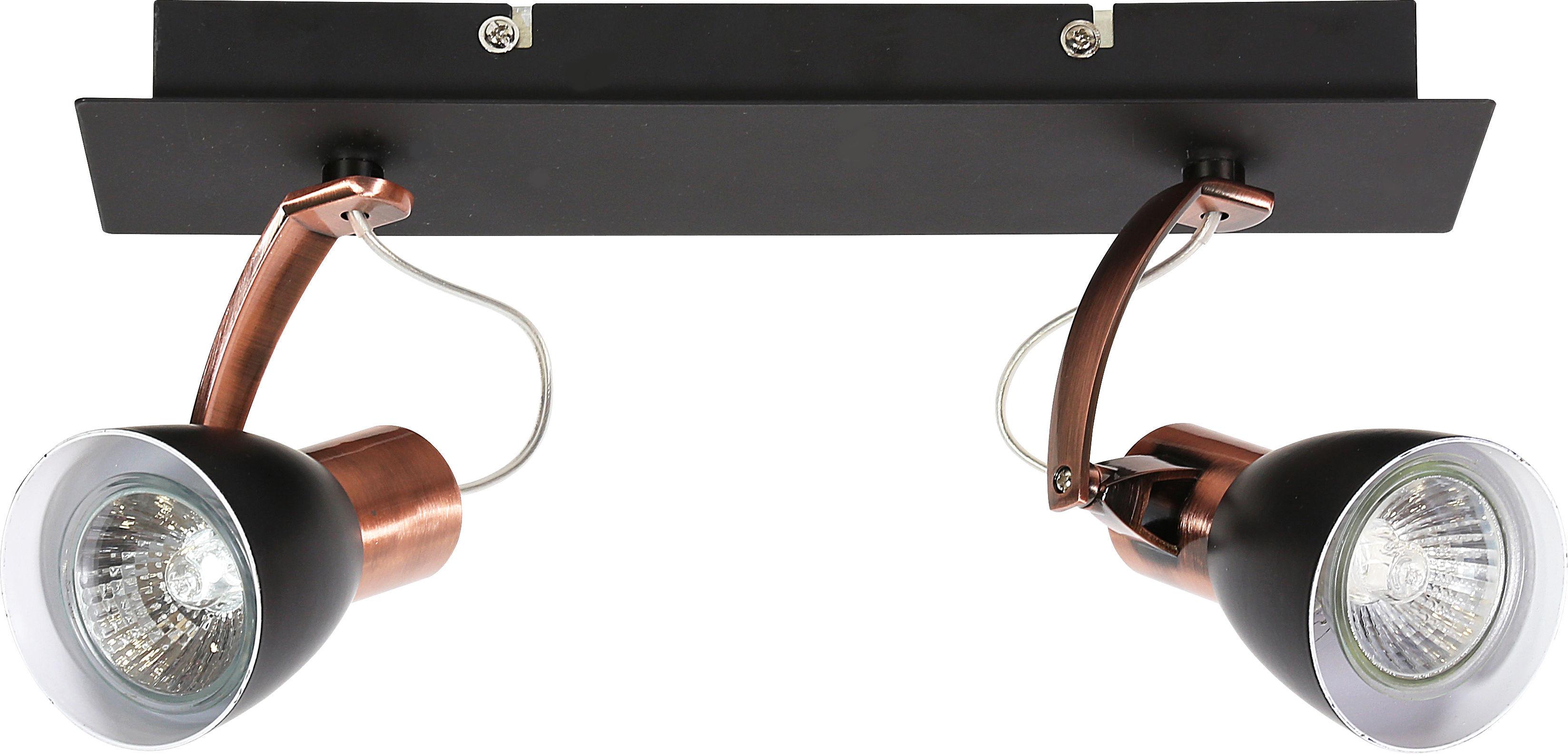 Candellux MARKUS 92-37442-M oprawa oświetleniowa spot czarny+-miedziany 2X50W GU10 30cm