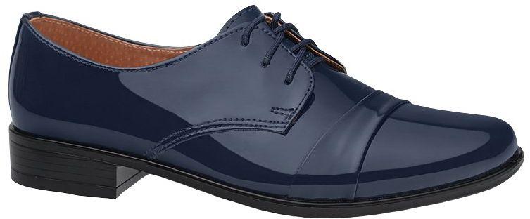 Półbuty buty komunijne wizytowe Lakierki KMK 106 Granatowe eleganckie - Granatowy Niebieski