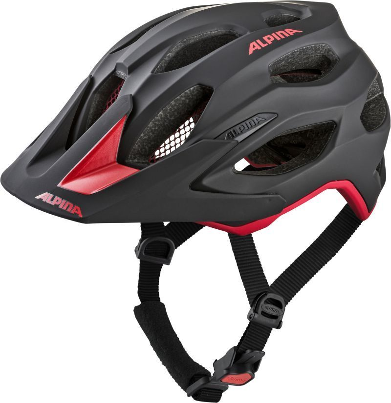 ALPINA Kask rowerowy CARAPAX 2.0 BLACK-RED Rozmiar: 52-57,carapax2blackred