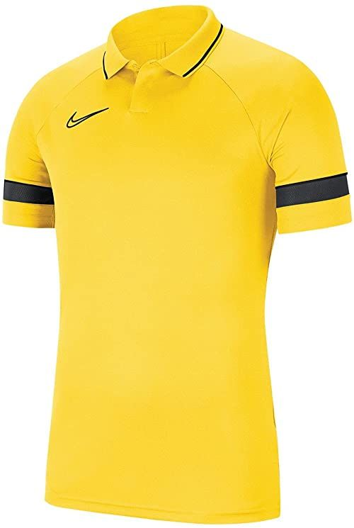 Nike Koszulka polo dla chłopców Academy 21 żółty Tour Yellow/Black/Anthracite/Black 134-146