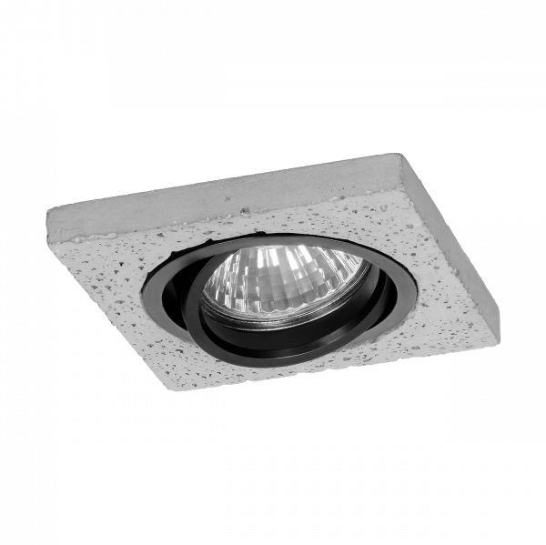 HALISI SM ramka dekoracyjna oprawy punktowej, MR16/GU10 max 50W, kwadrat, ruchoma, czarna