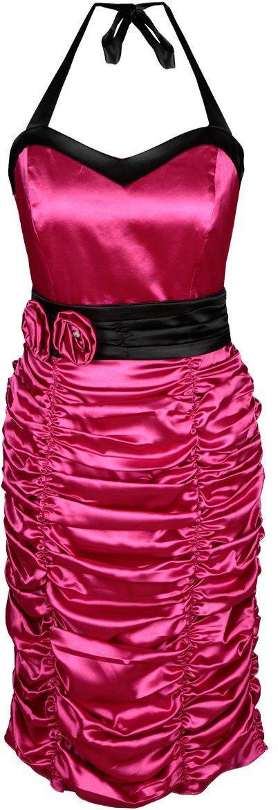 Sukienka FSU190 AMARANTOWY JASNY