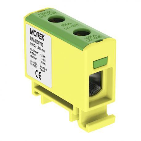 Złączka szyn. 1,5-50mm2 żółt-ziel 2otwor 1P MAA1050Y10 Morek 3835