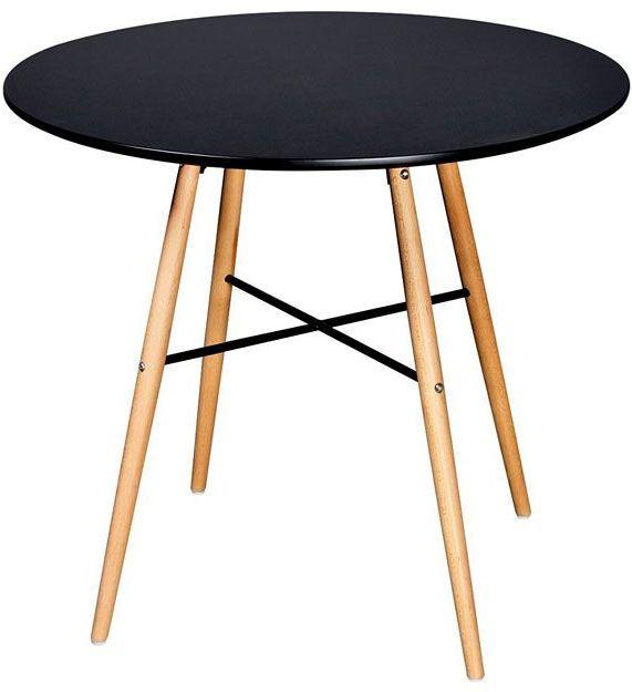 Okrągły stół Bacoli - czarny